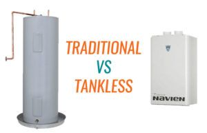 traditional vs tankless water heater